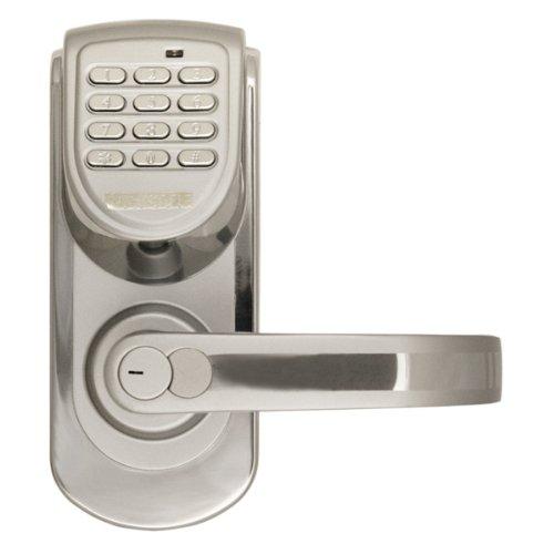 Lockstate Ls-6600-R-S 200-Code Keyless Digital Door Lock, Right-Hand, Silver