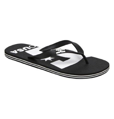 Dc Men'S Spray Logo Flip Flop,Black/White,11 M Us front-936454