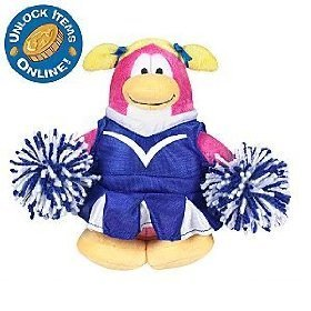 "Buy Low Price Jakks Pacific Disney Club Penguin: 6 1/2"" Series 3 Plush Figure – Cheerleader (B002G3CK66)"
