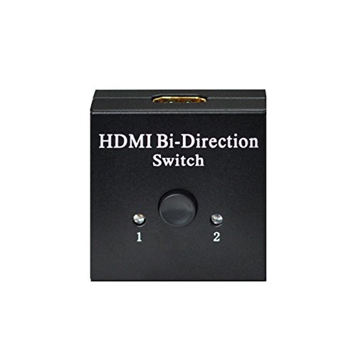 Panlong 2-Port Hdmi Bi-Directional Switch Switcher Box 2X1 Or 1X2 Hdmi V1.4 Compliant Support 3D, Full Hd 1080P, 4Kx2K Resolution, Hdcp
