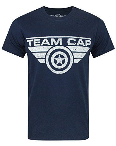 Captain America Civil War Team Cap Men's T-Shirt (XL)