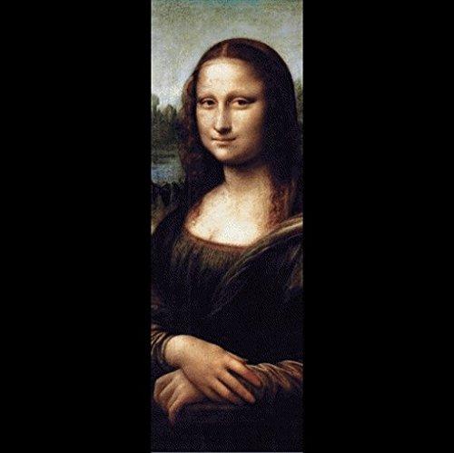 Leonardo Da Vinci Poster Adhesive Wall Stripe Wallpaper - Mona Lisa (98 X 31 Inches) front-1010745