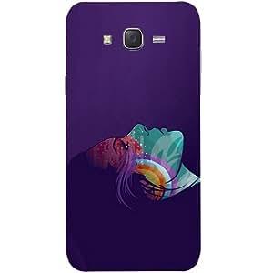 Casotec Vector Girl Design Hard Back Case Cover for Samsung Galaxy J2