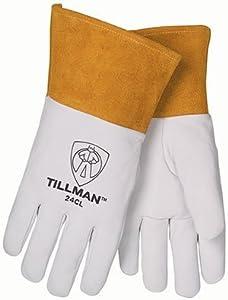 XL 24C Kidskin TIG Welders Gloves (6 Per Pack) - R3-24CXL by John Tillman Company