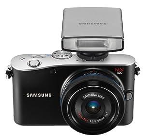Samsung EV-NX100 14.6  MP Digital Camera with SLR 20-55mm iFunction Lens and External Flash