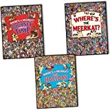 Paul Moran Where's The Meerkat? 3 Books Collection Set Pack By, Paul Moran (Where's The Meerkat? Where's The Meerkat? On Holiday Where's The Meerkat? Journey Through Time