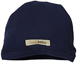 L\'ovedbaby Unisex-Baby Newborn Organic Cute Cap, Navy, 3/6 Months
