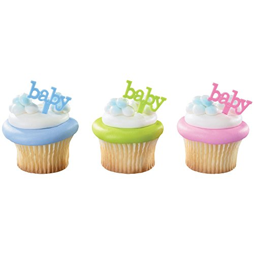 DecoPac Baby DecoPic Cupcake Pics (12 Count) (Baby Food Picks compare prices)