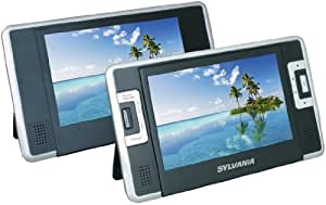 Sylvania SDVD8732 7-Inch Dual Screen Portable DVD Player with Built In 3.5 Hour Lithium Battery and USB/SD Card Reader