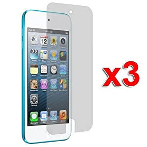 3X Clear LCD Screen Protector Cover Films for New iPod Touch 5th Generation 5G 5