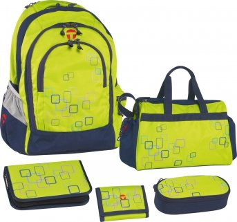 Take It Easy Schulrucksack-Set 5-tlg BERLIN Cube