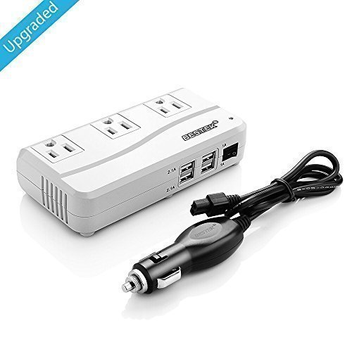 [Upgraded Version] BESTEK 200W Power Inverter 3 AC Outlets with 4.2A 4 USB Charging Ports