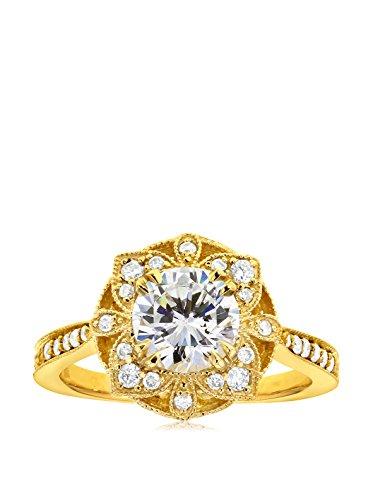 Kobelli 14K Gold Moissanite & Diamond Floral Engagement Ring