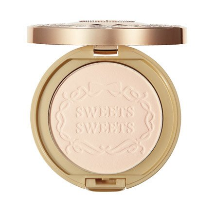 Sweet Sweet Make Up Face Powder Marshmallows Clear Pact SPF24 PA++ - 01 Light(Green Tea Set)
