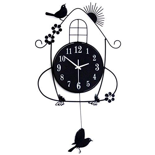 Swing bird wall clock,