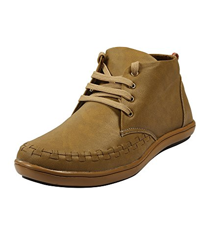 Adammo Men's Tan Synthetic Leather Boots