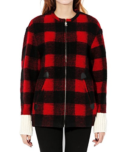 wiberlux-isabel-marant-fimo-womens-check-zip-front-wool-jacket-34-red-black