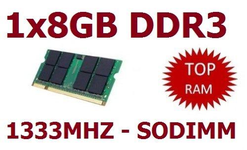 OEM MEMORY (Mihatsch & Diewald) 1x 8 GB 204 pin DDR3-1333 SO-DIMM (1333Mhz, PC3-10600S, CL9) - passend für aktuelle Apple Systeme und Notebooks mit 8GB Unterstützung (Core i5/i7 2. Generation)