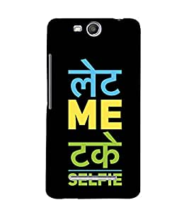 Take A Selfie 3D Hard Polycarbonate Designer Back Case Cover for MicromaxBoltQ338
