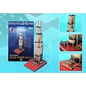 Sears Tower 3D Puzzle Cubic Fun