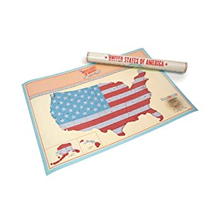 Luckies of London The United States of America Scratch Map (USLUKUS)