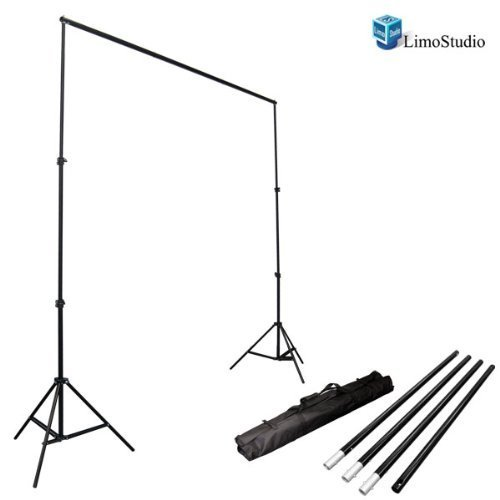 LimoStudio-Photo-Video-Studio-10Ft-Adjustable-Muslin-Background-Backdrop-Support-System-Stand-AGG1112