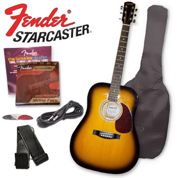 fender acoustic guitar starcaster by fender acoustic electric guitar color 2 tone sunburst. Black Bedroom Furniture Sets. Home Design Ideas