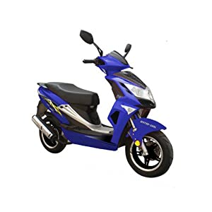 Roketa MC-15-50 BLUE 49cc 2 Stroke 45mph Max Moped Scooter