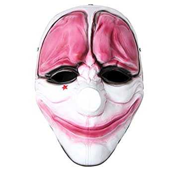 Payday2 Mask Clown Dallas Chains HOXTON Wolf Resin Mask Halloween Costumes