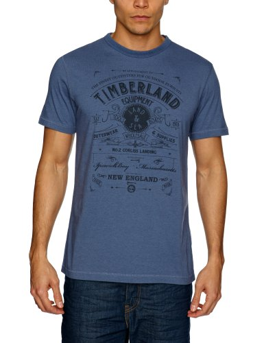 Timberland Clothing SS TBL Equipment Logo Men's T-Shirt Vintage Indigo Small