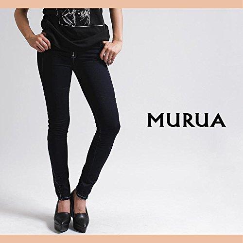 【MURUA(ムルーア)】ZIP付J/W切替スキニーパンツ Sサイズブルー(50)