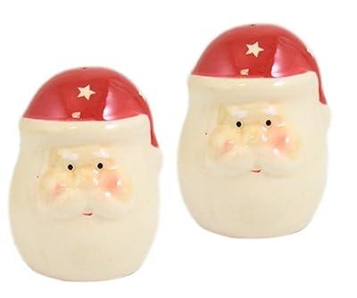 Ceramic Santas Cruet Salt & Pepper Pots Set from UBL