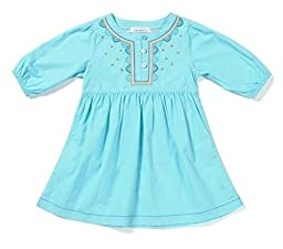 Cabana Life Girls Cover Up Poplin Tunic Dress UPF 50+ Protection 4T 4-Years 105