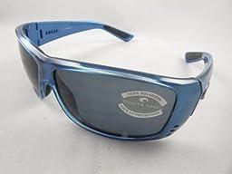 Costa Del Mar Cat Cay Men\'s Polarized Sunglasses, Sky Blue/Gray 580P, Large