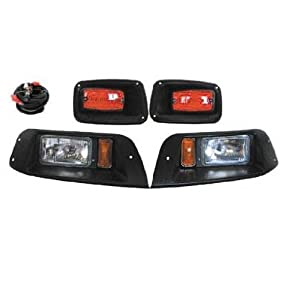 Premium EZGO TXT Golf Cart Headlight - LED Tail Light Kit by Golf Cart King