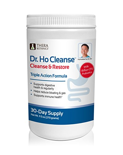 Dr. Ho Triple Action Cleanse & Restore - Detox-Eliminate Built-up Toxins and Waste; Relieve Discomfort from Constipation, Gas, Upset Stomach; Feel Lighter, Slimmer & Energized Gluten Free Fiber Rich