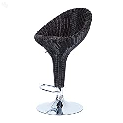 Royal Oak Rattan Bar Stool (Black)