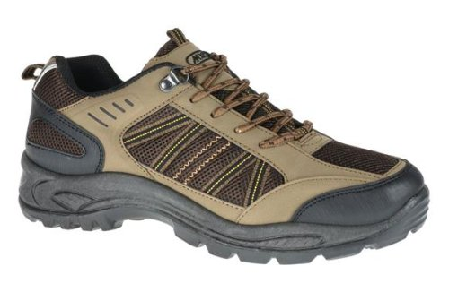 MENS HIKING BOOTS TREKKING RAMBLING LACE UP TRAINERS CASUAL KHAKI WALKING SHOES