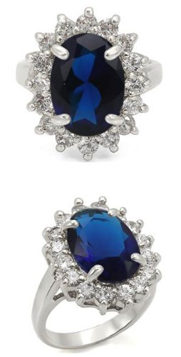 KATE MIDDLETON RING - Oval Sapphire CZ Engagement Ring