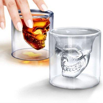CNMKLM Halloween terreur gothique crâne Vodka Verre à vin , 75ml