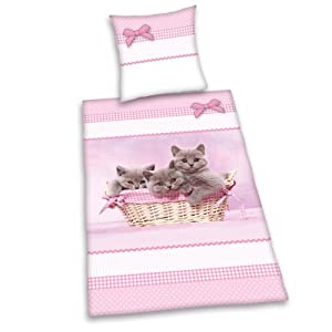 Juego de funda n rdica gatos en cesta de mimbre 135 x for Funda nordica gatos