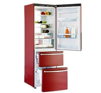 Haier AFL 631 CR/F Réfrigérateur combiné 308L Classe: A+ Rouge