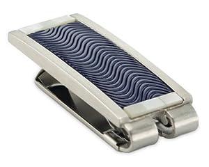 Stainless Steel Money Clip - Blue Enamel