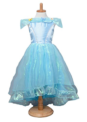 Kidcos 2015 Kids Cinderella Princess Short-sleeved Dress Blue Cosplay Costume