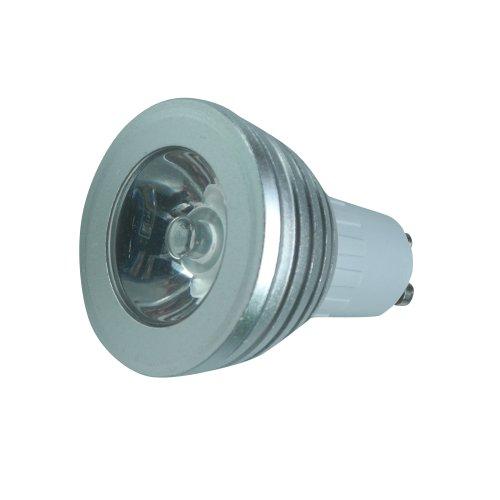 Cnfacility Gu10 3W Led Rgb Colour Changing Spotlight Light Bulb - Size: 3.12*2.41*1.97 - Silver