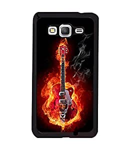 printtech Burning Fire Music Guitar Back Case Cover for Samsung Galaxy Grand Prime G530h
