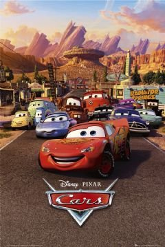Cars Movie (Group, Town) Poster Print - 22x34