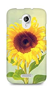 Amez designer printed 3d premium high quality back case cover for Micromax Canvas HD A116 (Beautiful Sunflower Macro)