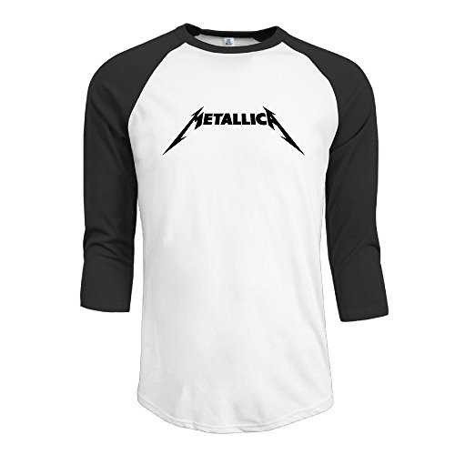 YI Own Men's Funny Metallica 3/4 Sleeve Baseball T-Shirt Black (Metallica Devil Shirt compare prices)