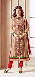 V-Kart Women's Cotton Unstitched Dress Material (Vkart_331_Multi_Free Size)